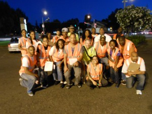 The Ceasefire anti-violence team from the South Sacramento Christian Center led a walk assessment off Mack Road and Center Parkway with WALKSacramento