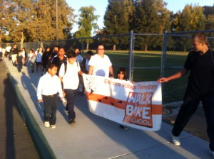 Walk to School Day at Elkhorn Village