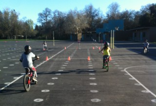 Bannon Creek students participating in bike drills